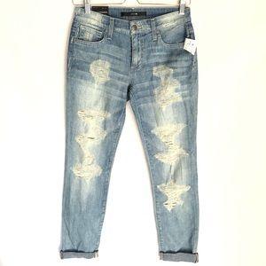 NWT Joe's Slim Boyfriend Distressed Ankle Jeans 24